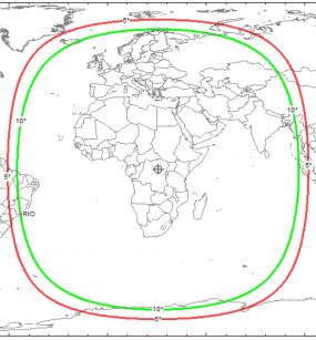 Area di copertura del satellite